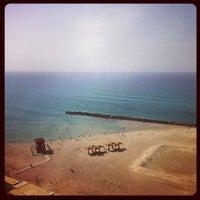 Photo taken at Leonardo Beach by Valentine M. on 10/21/2012