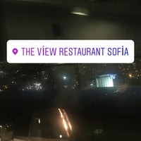 Photo taken at The View Restaurant Sofia by Sema H. on 11/12/2017