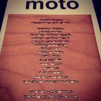 Photo taken at Moto Restaurant by ArtJonak on 10/2/2015