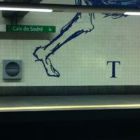 Photo taken at Metro Cais do Sodré [VD] by Ana N. on 1/6/2013