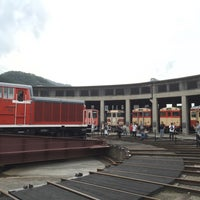 Photo taken at 旧津山扇形機関車庫 by onasu on 10/8/2016