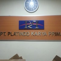 Photo taken at PT. Platindo Karya Prima, Platinum Computer by Herman L. on 12/3/2013