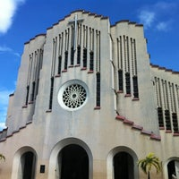 Photo taken at National Shrine of Our Mother of Perpetual Help (Redemptorist Church) by Rachel T. on 3/10/2013