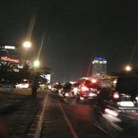 Photo taken at Jembatan Semanggi by Frond F. on 9/17/2012