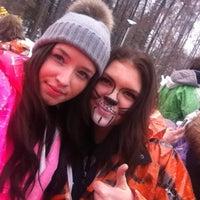 Photo taken at Pohjois-Tapiolan koulu ja lukio by Julia on 2/14/2013