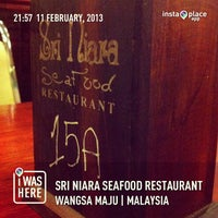 Photo taken at Sri Niara Seafood Restaurant by Mohd D. on 2/11/2013