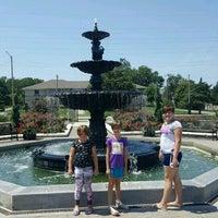 Photo taken at Kansas State University Gardens by Gina E. on 8/3/2016