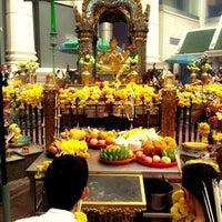 Photo taken at Erawan Shrine by Apple C. on 4/28/2013