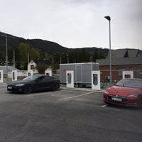 Photo taken at Tesla Supercharger by Føkk F. on 5/15/2014