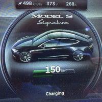 Photo taken at Tesla Supercharger by Føkk F. on 3/22/2014