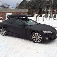 Photo taken at Tesla Supercharger by Føkk F. on 2/2/2014