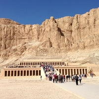Photo taken at Mortuary Temple of Hatshepsut by Khalifa M. on 1/29/2013