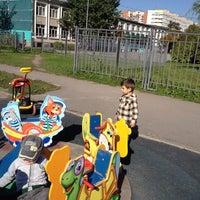 Photo taken at Детская площадка садика №52 by Elizaveta A. on 9/8/2014