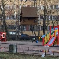 Photo taken at Детская площадка садика №52 by Elizaveta A. on 11/10/2014