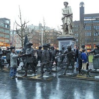 Photo taken at Rembrandtplein by Viktor S. on 2/16/2013