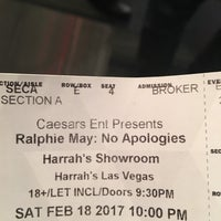 Photo taken at Harrah's Showroom by Nature Boy on 2/19/2017