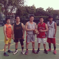 Photo taken at Lapangan Basket Duren Sakti by Yosua A. on 5/26/2014