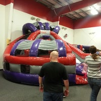 Photo taken at Bounce U by Lee H. on 3/23/2013
