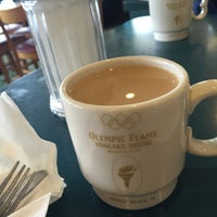Photo taken at Olympic Flame Pancake House by Mindy H. on 2/18/2015