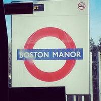 Photo taken at Boston Manor London Underground Station by Marina F. on 5/1/2013