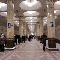 Photo taken at Metro Kiyevskaya, line 4 by Marina F. on 1/10/2013