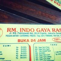 Photo taken at RM. Indo Gaya Rasa by Rudy N. on 7/28/2014