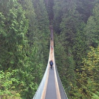 Photo taken at Capilano Suspension Bridge by 山田だよ on 5/3/2013