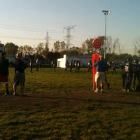 Photo taken at Palos Football Field by Ryan D. on 9/29/2012