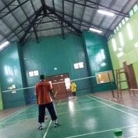Photo taken at Dewan Badminton Bandar Sahabat by Abu Talib O. on 4/20/2014