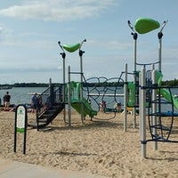 Photo taken at Oconomowoc City Beach by Jared C. on 7/27/2018