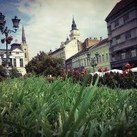 Photo taken at Pozorišni trg by Davor on 9/25/2015