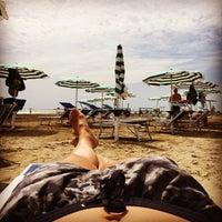 Photo taken at Spiaggia Degli Alberoni by Luca C. on 8/1/2015