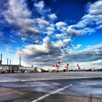 Photo taken at Istanbul Atatürk Airport (IST) by baran f. on 2/9/2013