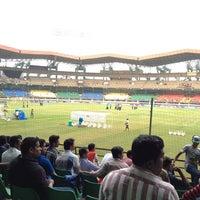 Photo taken at Jawaharlal Nehru Stadium by Jaseem T. on 2/6/2013