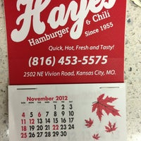 Photo taken at Hayes Hamburgers & Chili by Arvind on 1/1/2013