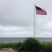 Photo taken at Popponesset Beach by Leigh R. on 8/29/2013