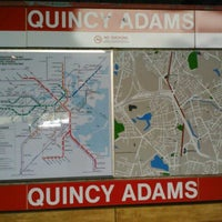 Photo taken at MBTA Quincy Adams Station by Emily A. on 10/11/2012