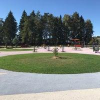 Photo taken at Парк «Сосны» by Marina P. on 9/13/2018