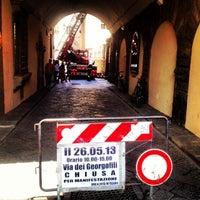 Photo taken at Via dei Georgofili by Mario R. on 5/26/2013