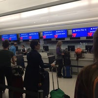 Photo taken at Delta Air Lines Ticket Counter by Monica L. on 10/8/2017