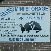 Photo taken at Armadillo Mini Storage by AJ t. on 6/17/2013