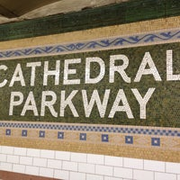 Photo taken at MTA Subway - Cathedral Pkwy/110th St (1) by Cari on 4/17/2013