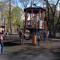 Photo taken at Ziemeļblāzmas parka bērnu laukumiņš by Ludmila S. on 5/4/2014