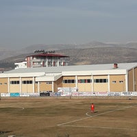 Photo taken at Mut İlçe Stadyumu by Leyla T. on 2/7/2018