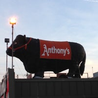 Photo taken at Anthony's Steakhouse by Rebecca R. on 4/4/2013