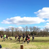 Photo taken at Austin Rugby at Burr Field by Vicki R. on 1/9/2016