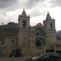 Photo taken at Plaza de Armas de Chivay by soriano j. on 10/21/2014