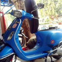 Photo taken at GMB Vespa Shop by Ekha V. on 4/5/2014