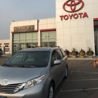Photo taken at Luther Brookdale Toyota by Iurie G. on 8/21/2015