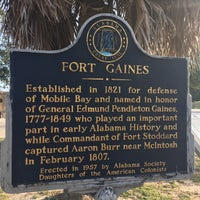 Photo taken at Fort Gaines by Felix A. on 11/13/2017